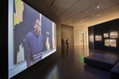 Film installed at the Denver Art Museum