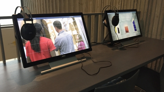 Photo of the Video Kiosks at the Clyfford Still Museum.